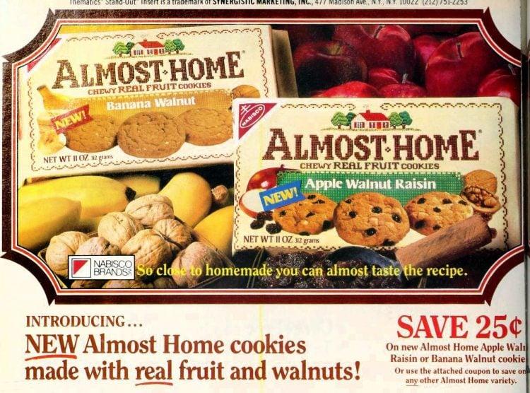 Vintage Almost Home packaged cookies - Nabisco 1987 (1)
