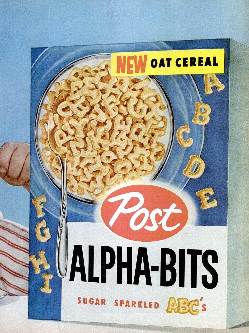 Vintage Alpha Bits cereal (1955)