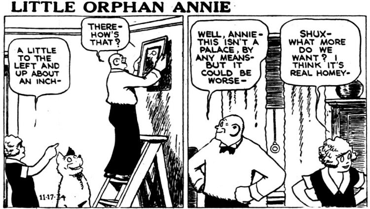 Vintage Annie comic strip from Nov 13 1934 (2)