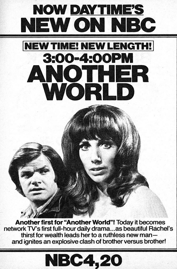 Vintage Another World soap opera moving to 1 hour 1975