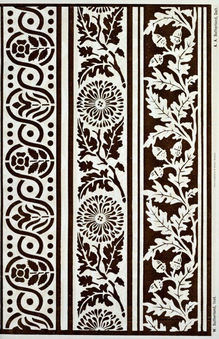 Vintage Antique Victorian stencil patterns (1)