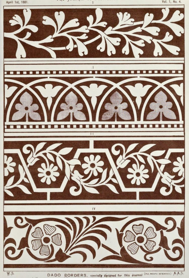 Vintage Antique Victorian stencil patterns (2)