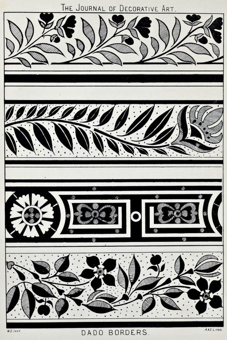 Vintage Antique Victorian stencil patterns (3)