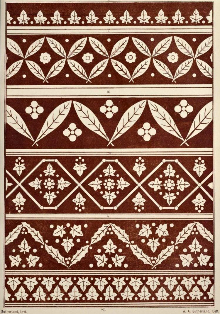 Vintage Antique Victorian stencil patterns (4)