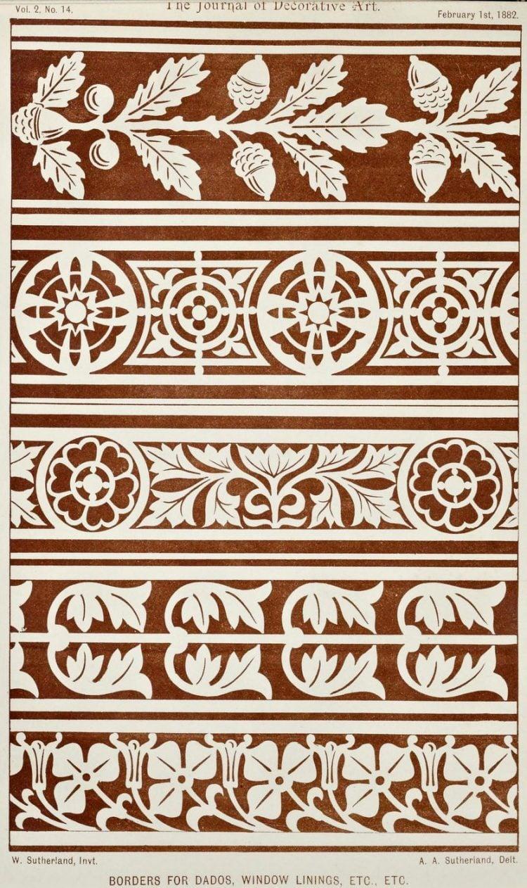 Vintage Antique Victorian stencil patterns (5)