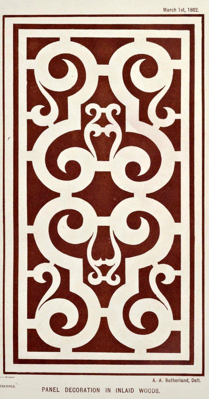 Vintage Antique Victorian stencil patterns (6)