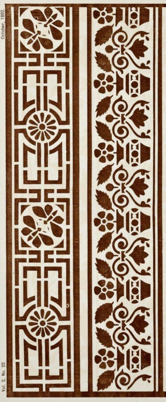 Vintage Antique Victorian stencil patterns (7)