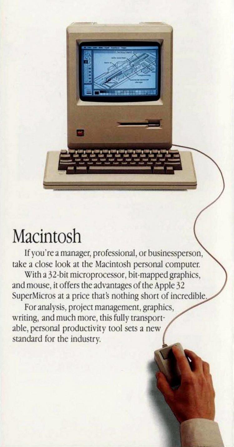 Vintage Apple Macintosh - Retro tech from 1984