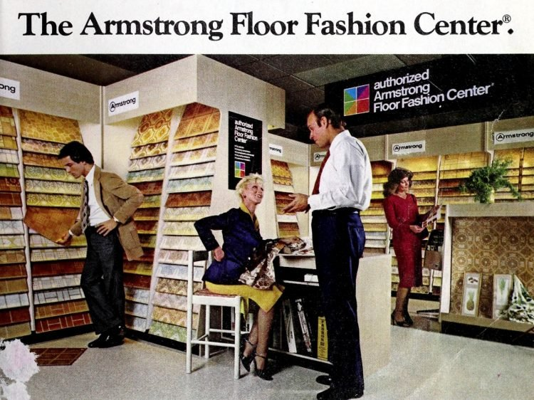 Vintage Armstrong Floor Fashion center with vinyl linoleum sample store - From ClickAmericana com