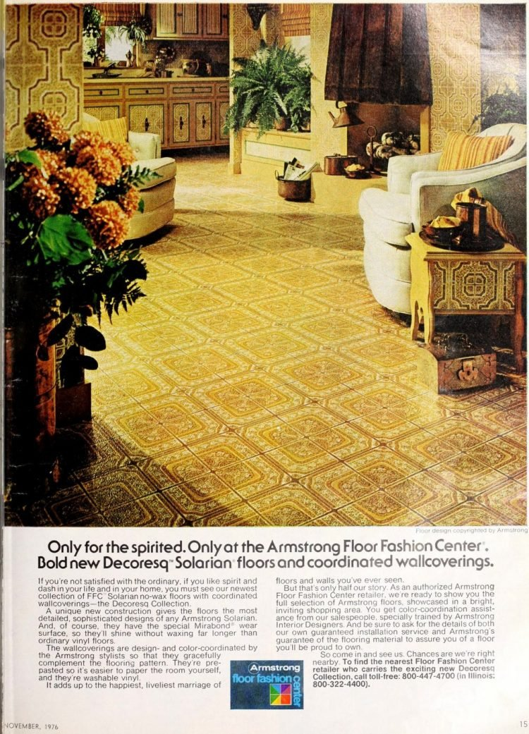 Vintage Armstrong vinyl flooring from 70s and 80s - From ClickAmericana com (8)