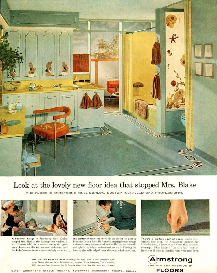 Vintage Armstrong vinyl floors - Flooring from the 1950s (2)