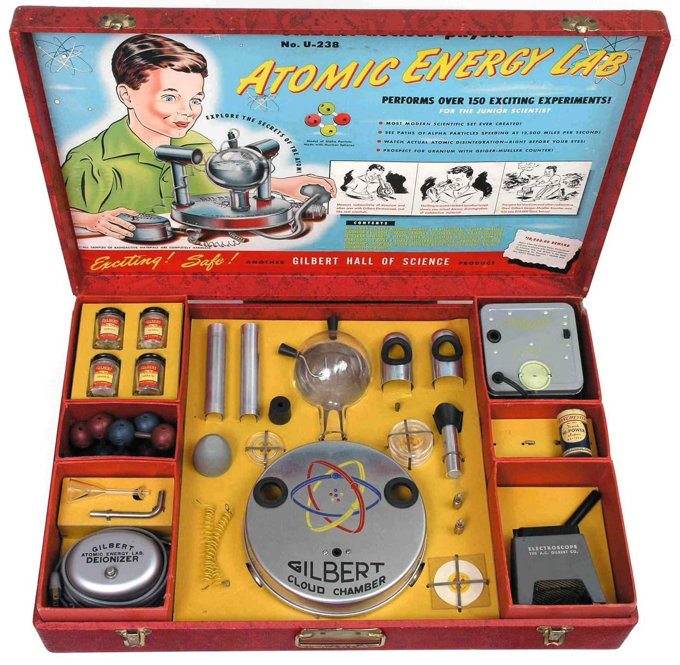 Vintage Atomic Energy Lab science toy from 1951