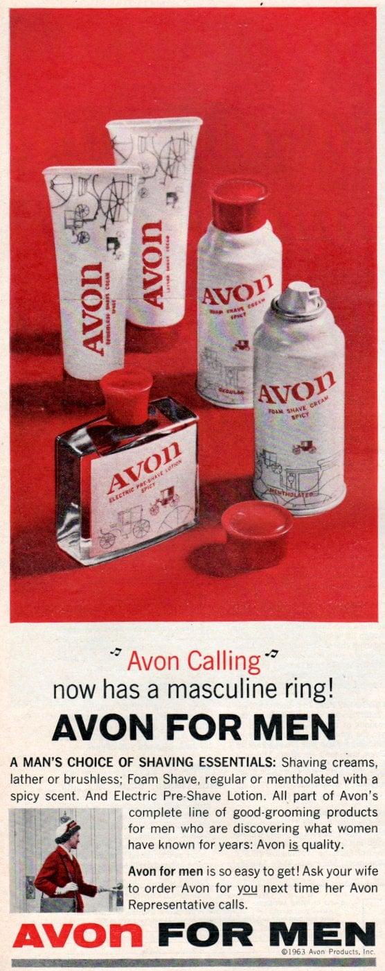 Vintage Avon for Men grooming gift set from 1963