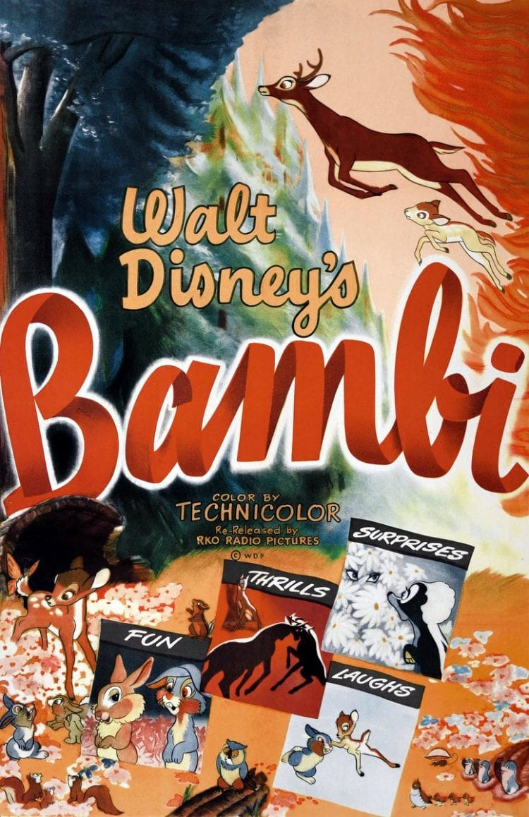 Vintage Bambi movie poster 1948