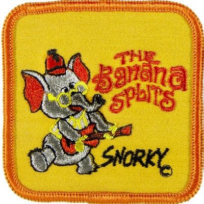 Vintage Banana Splits TV character patch - Snorky