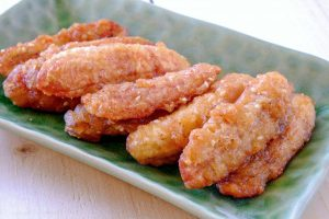Fried banana fritters