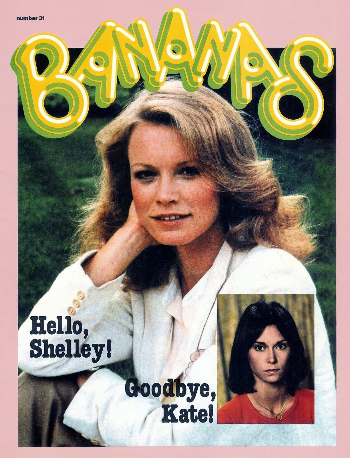 Vintage Bananas magazine with Shelley Hack of Charlie's Angels on the cover