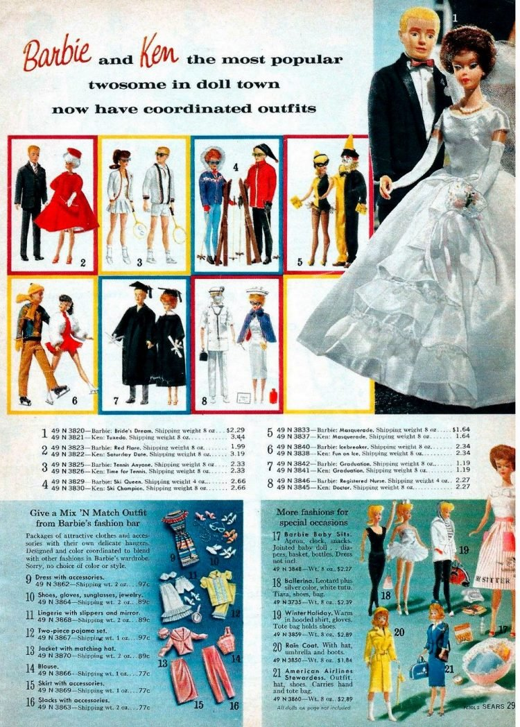 Vintage Barbie dolls from 1963 (2)