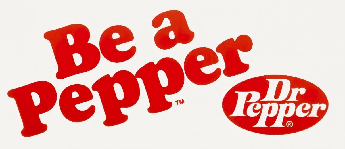 Vintage Be a Pepper - Dr Pepper - bumper sticker