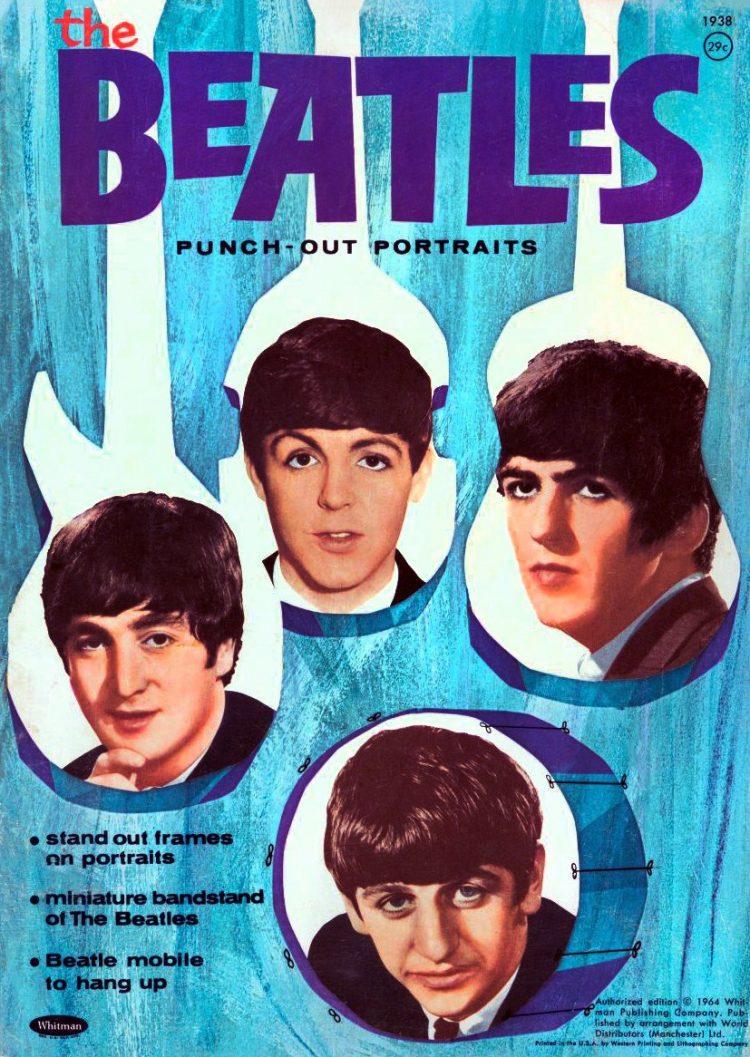 Vintage Beatles punch-out portrait novelty magazine