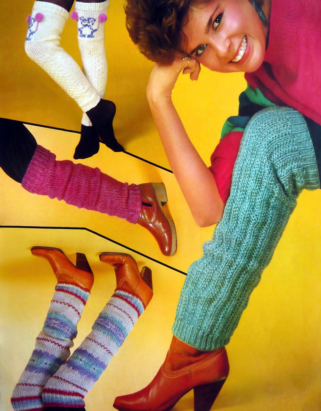 Vintage Bernat leg warmers from the 1980s