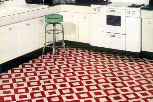 Vintage Bird Duo-tone flooring from 1951