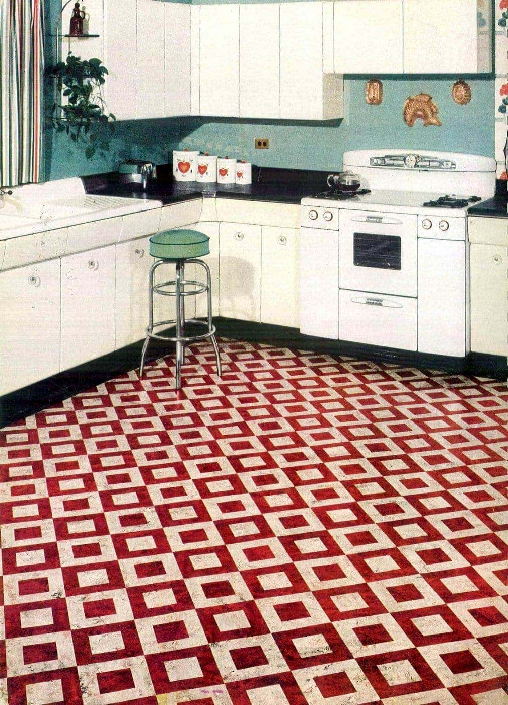Vintage Bird Duo-tone flooring from 1951