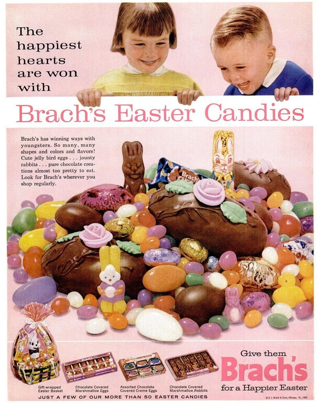 Vintage Brach's Easter candy 1963
