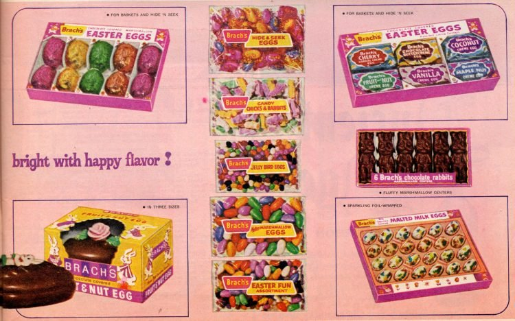 Vintage Brach's Easter candy lineup for 1964