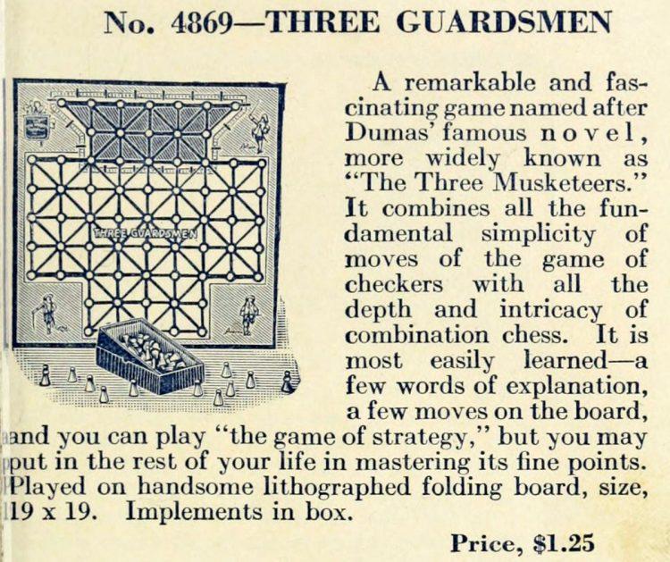 Vintage Bradley game - Three Guardsmen
