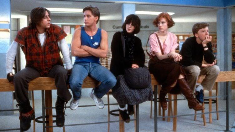 Vintage Breakfast Club 1980s movie cast