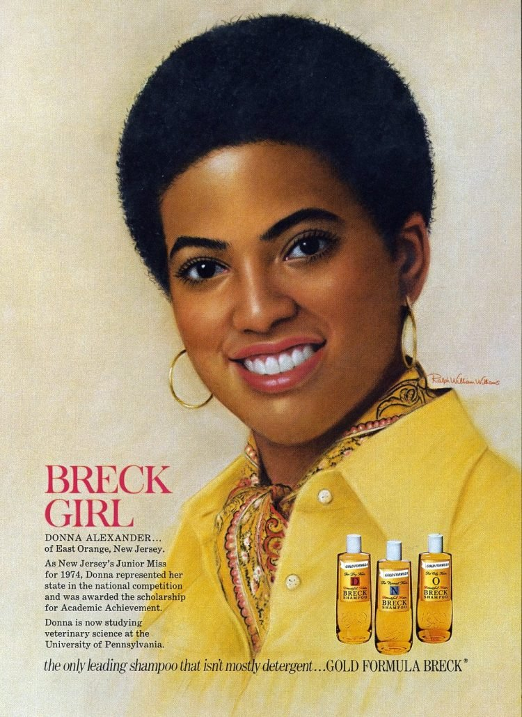 This image has an empty alt attribute; its file name is Vintage-Breck-shampoo-ad-1975-Donna-Alexander-750x1029.jpg