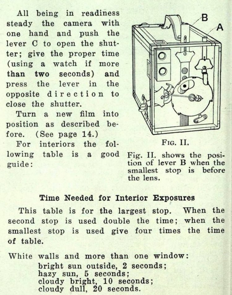Vintage Brownie camera directions (1)