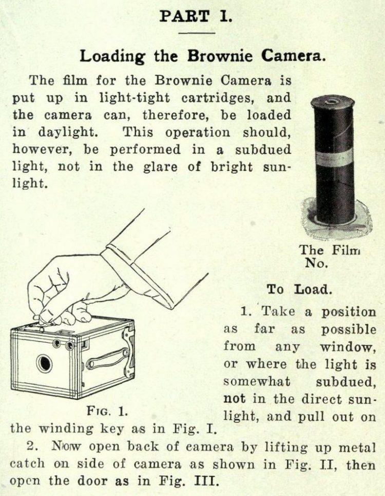 Vintage Brownie camera directions (2)
