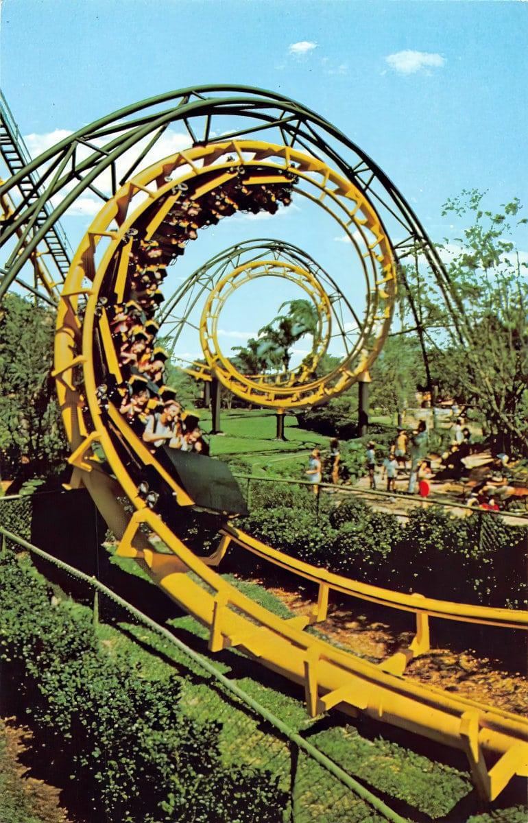 Vintage Busch Gardens Tampa - Python roller coaster