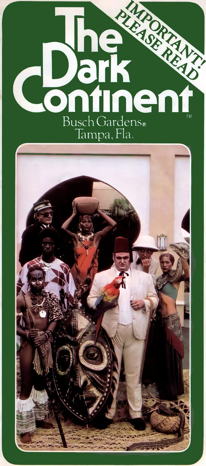 Vintage Busch Gardens Tampa brochure (1970s)