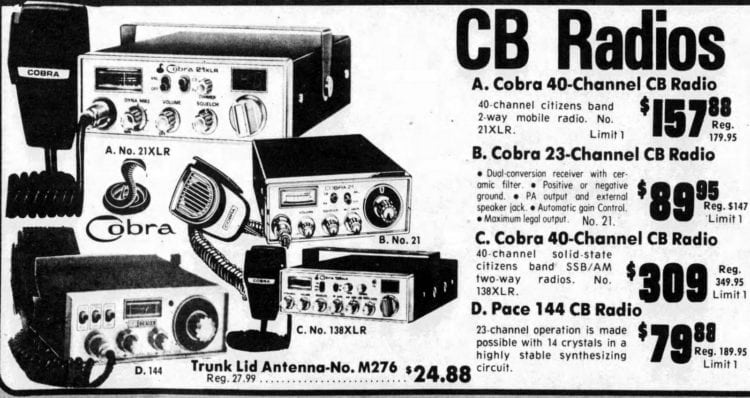 Just how much for your own CB radio? (1976-1977) - Click Americana