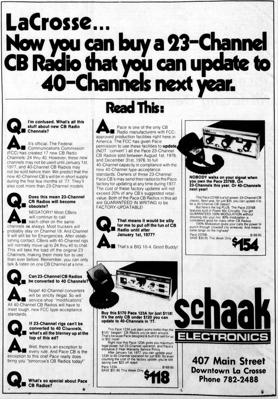 Vintage CB radios - La Crosse Tribune Aug 29 1976