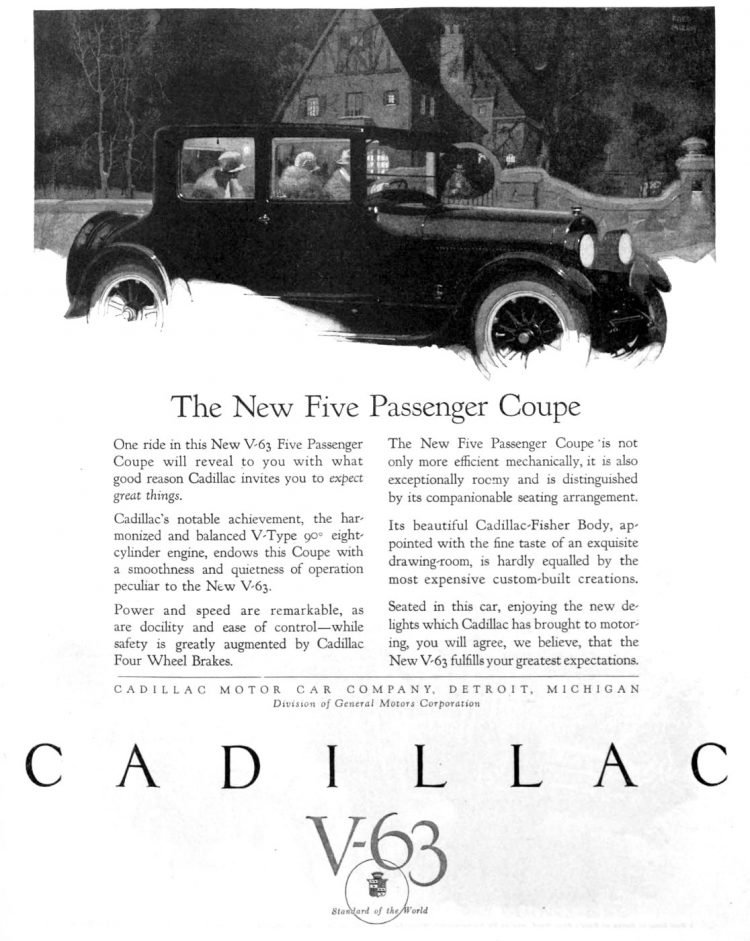Vintage Cadillac car ad from 1923 1924