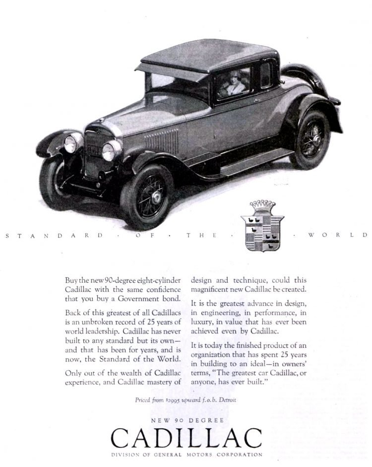 Vintage Cadillac car ad from 1926 (2)