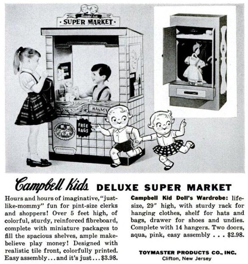 Vintage Campbell Kids 1950s - Deluxe Super Market toy