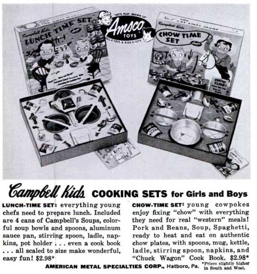 Vintage Campbell Kids 1950s - More cooking sets