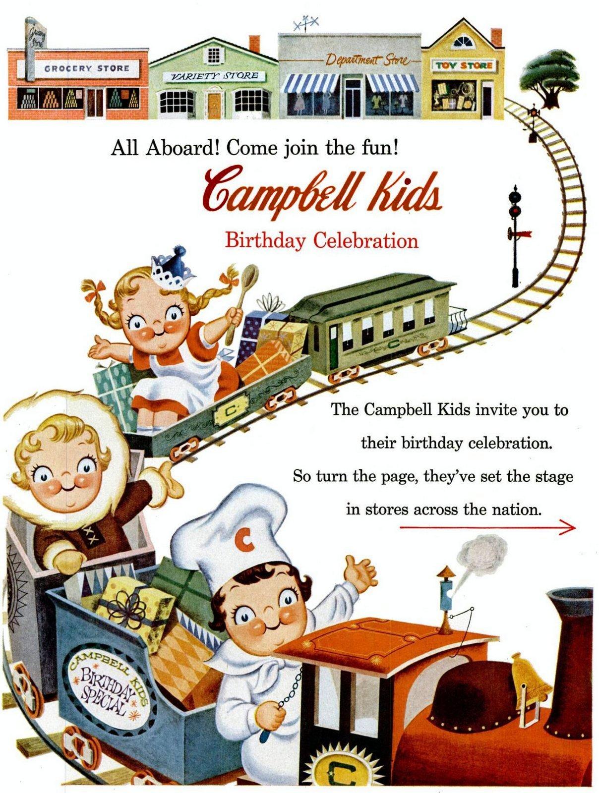 Vintage Campbell Kids 1950s