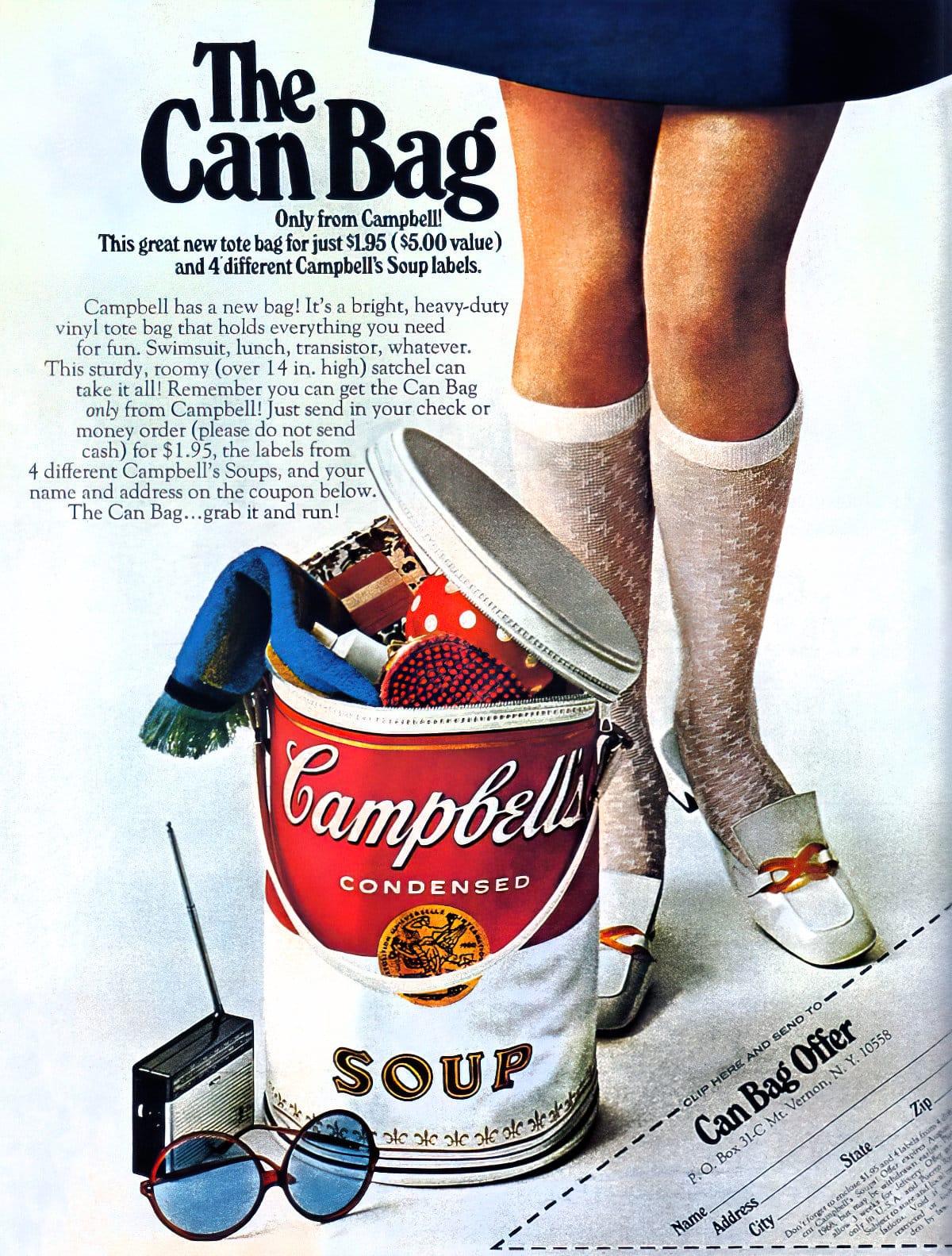 Vintage Campbell's Soup bag offer (1968)