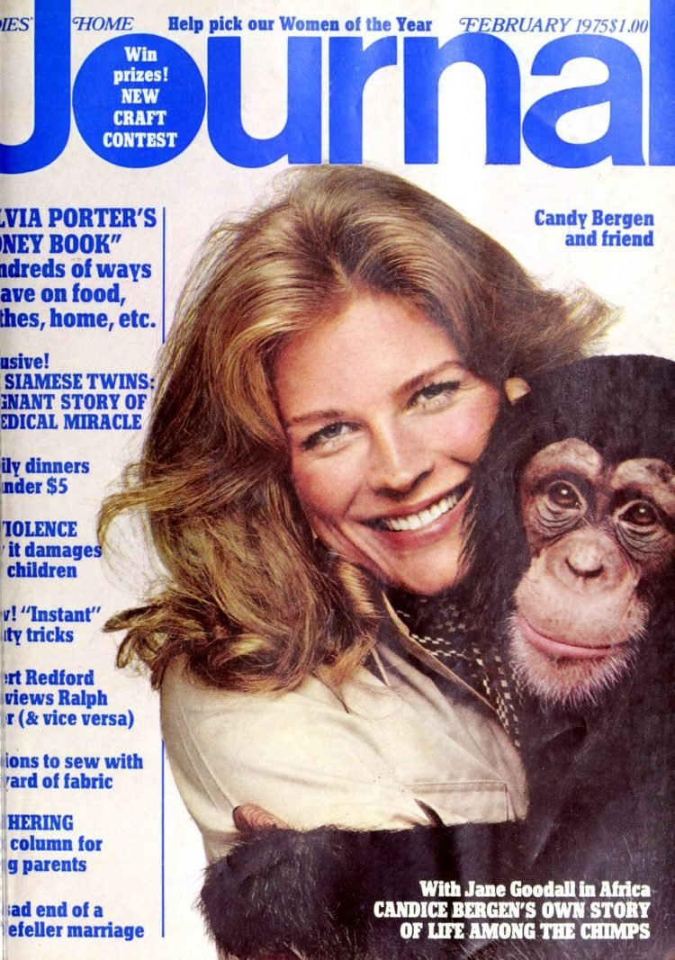 Vintage Candice Bergen on the cover of Ladies Home Journal (1975)