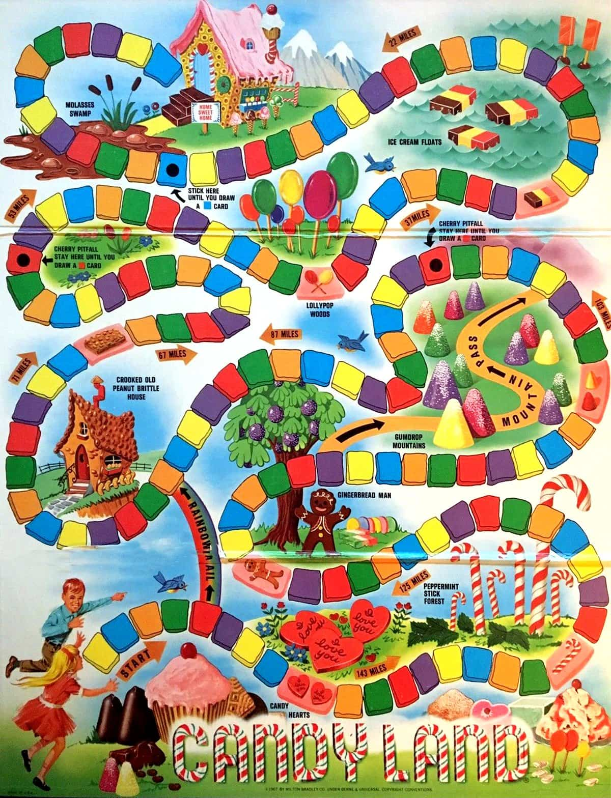 Vintage Candy Land board game - 1960s 1970s