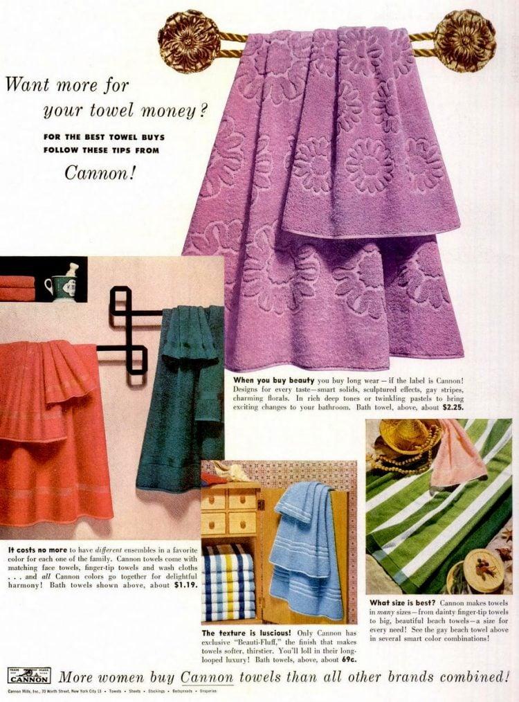 Vintage Cannon luxury towels (1953)