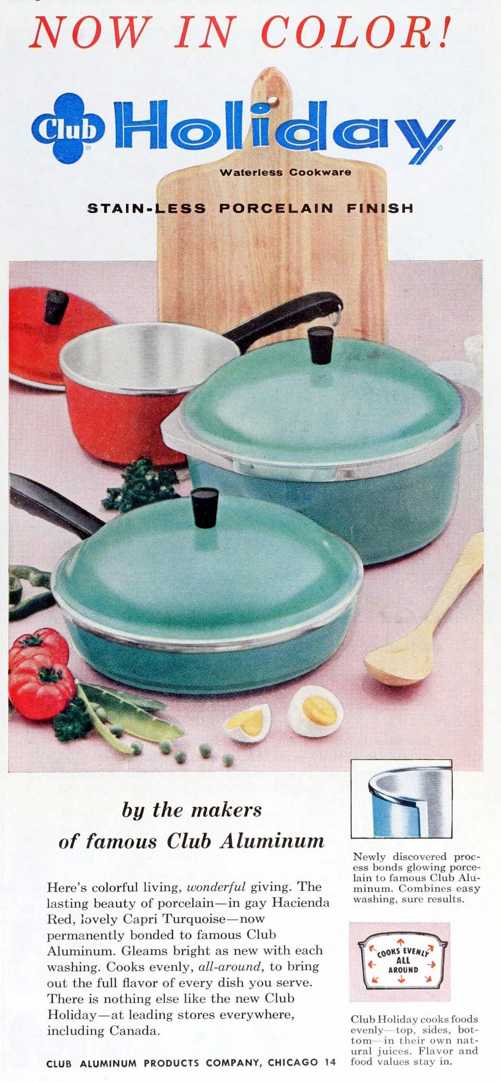 Vintage Capri Turquoise blue saucepans - Aluminum (1956)