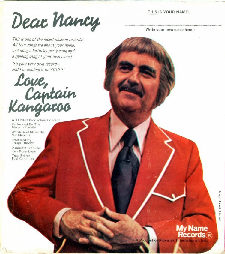 Vintage Captain Kangaroo records personalized with your name - Nancy