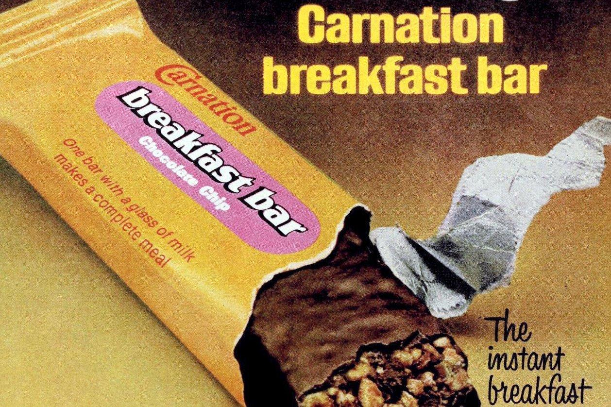 Vintage Carnation Breakfast bar 1970s